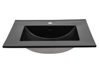 LAVA BLACK 60 DP - Umywalka meblowa 60 cm ceramiczna podwójnie pakowana