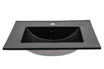 LAVA BLACK 80 DP - Umywalka meblowa 80 cm ceramiczna