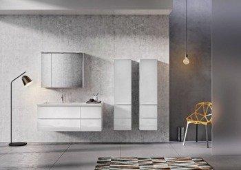 Oristo Zestaw mebli łazienkowych 125 cm BRYLANT biały L