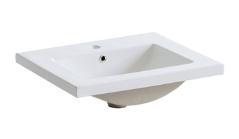 PLAIN 60 DP - Umywalka meblowa 60 cm ceramiczna