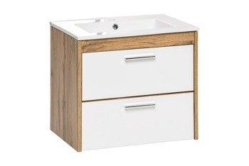Podwieszana szafka z umywalką 60 cm Ibiza biała
