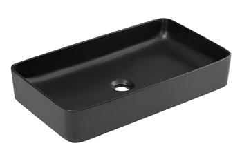 SLIM 2 BLACK 61- Umywalka nablatowa 61 cm ceramiczna