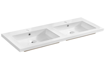 SPIRIT WHITE 120D - Umywalka meblowa 120 cm ceramiczna