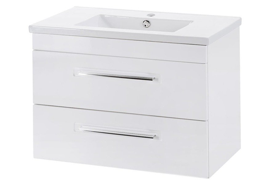 Biała szafka pod umywalkę 60 cm Active