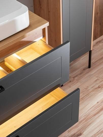 Madera Grey 854 - Szafka z umywalką 120 cm