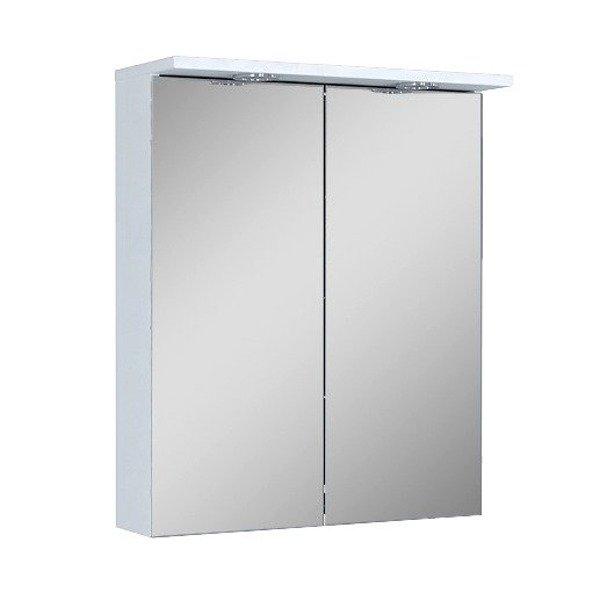 Oristo Szafka z lustrem 60 cm Silver biała