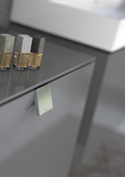 Oristo Szafka z umywalką 120 cm i lustrem 40 cm BOLD grafit połysk