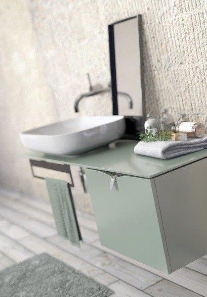 Oristo Szafka z umywalką 50 cm SIENA polny zielony mat
