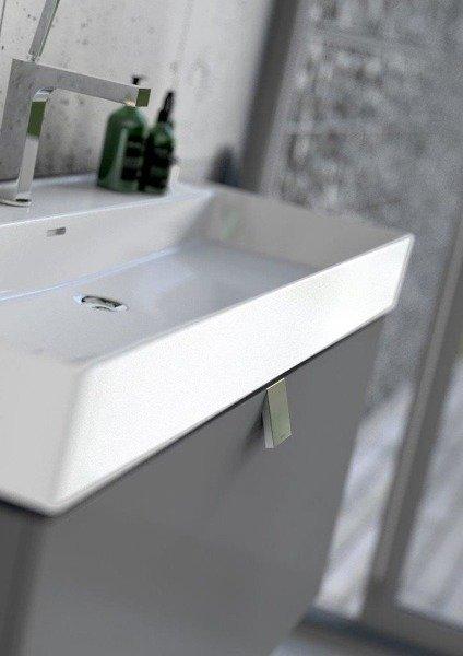 Oristo Szafka z umywalką 80 cm BOLD biały połysk