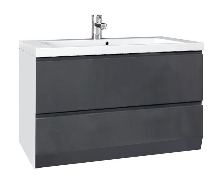 Oristo Zestaw mebli łazienkowych 125 cm BRYLANT grafitowy P
