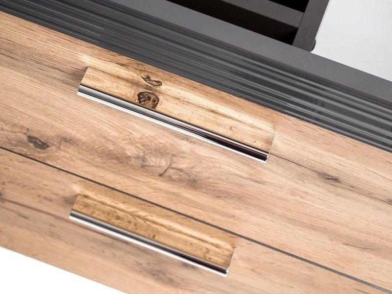 Podwieszana szafka z umywalką 60 cm Ibiza Antracyt