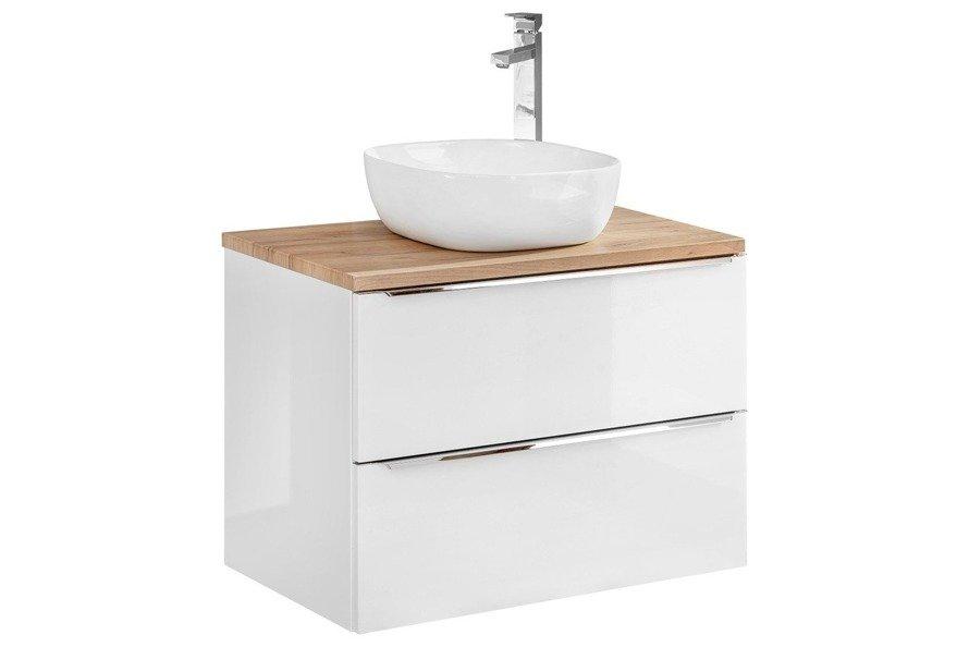 Szafka pod umywalkę 80 cm Capri biały 821