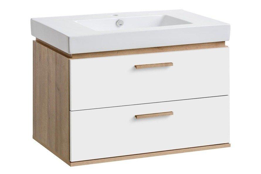 Szafka pod umywalkę 80 cm Remik riviera / biały