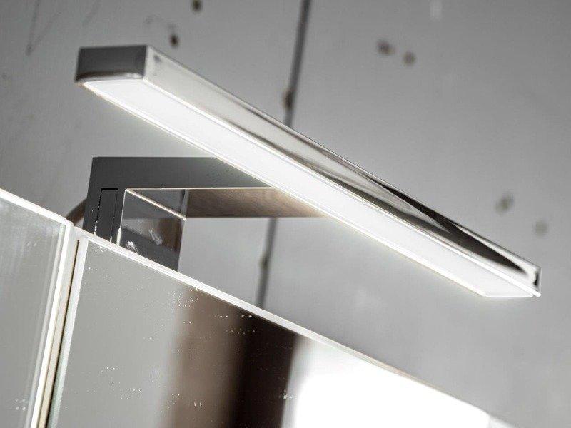Szafka wisząca z lustrem i oświetleniem Capri dąb 843