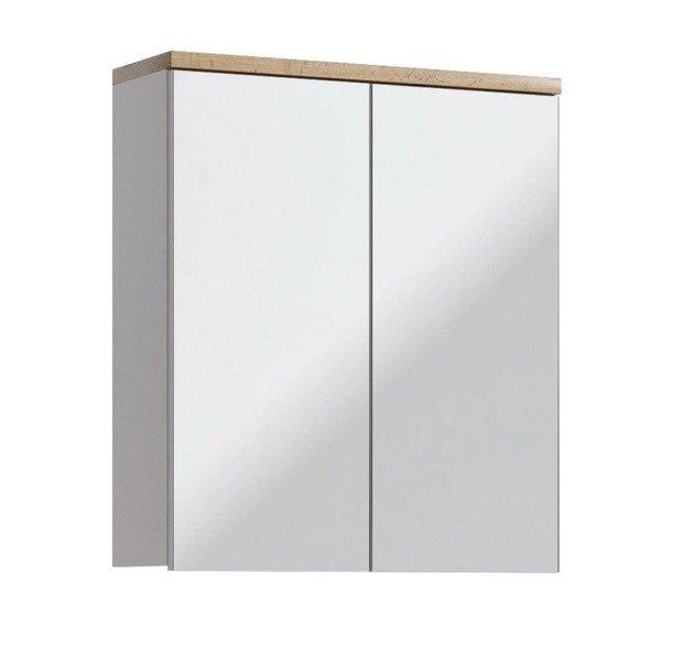 Szafka z lustrem 60 cm Bali Biały