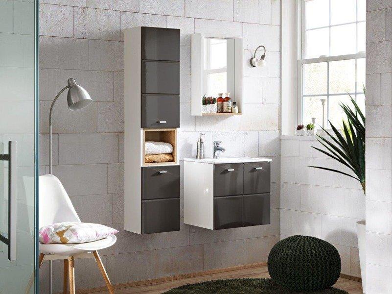 Szafka z umywalką 50 cm Finka Grey