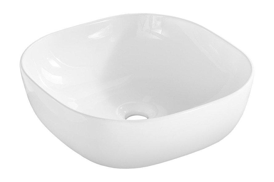 Zestaw mebli łazienkowych 80 cm Capri biały z białym blatem