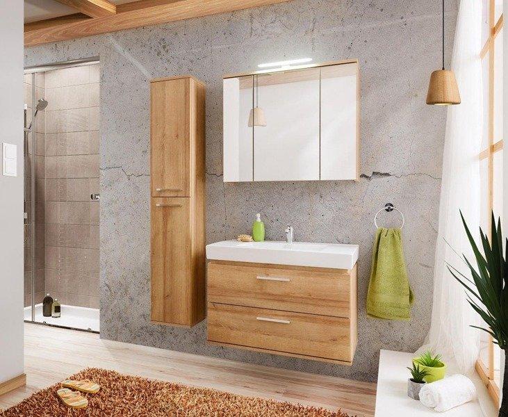 Zestaw mebli łazienkowych 80 cm Remik Riviera z lustrem